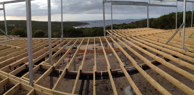 Joists are down
