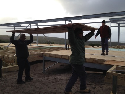 carrying the warmboard