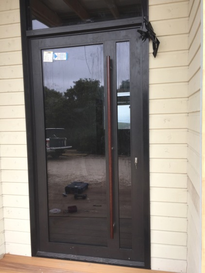 Finished door. Made by Mandurah Glass
