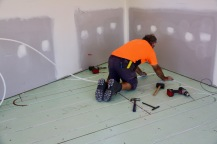 laying the Pex