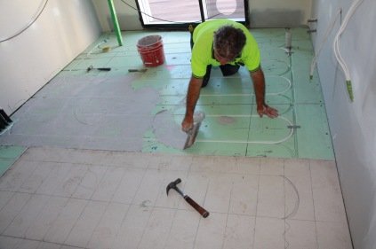 Buttering the warmboard