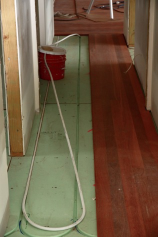 One damaged length of pex