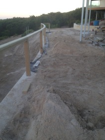 Posts Cemented in