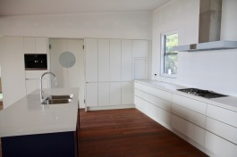 Island bench, gas hotplate ,and two-way pantry cupboard doors