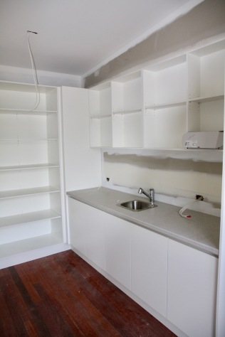 pantry, back wall & sink